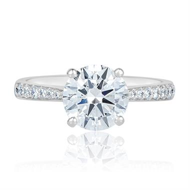 Platinum Diamond Solitaire Engagement Ring 1.63ct thumbnail