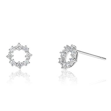 White Gold Diamond Mini Garland Earrings thumbnail
