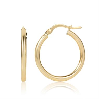 18ct Yellow Gold Hoop Earrings 20mm thumbnail