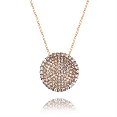 ECLIPSE   18ct Rose Gold Diamond Necklace thumbnail