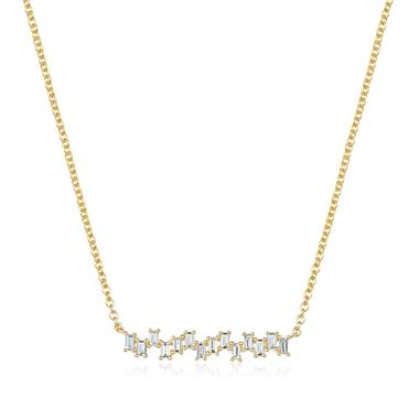 Stardust 18ct Yellow Gold Diamond Necklace 0.25ct thumbnail