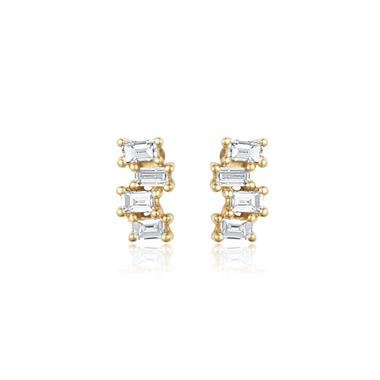 Stardust 18ct Yellow Gold Diamond Stud Earrings thumbnail