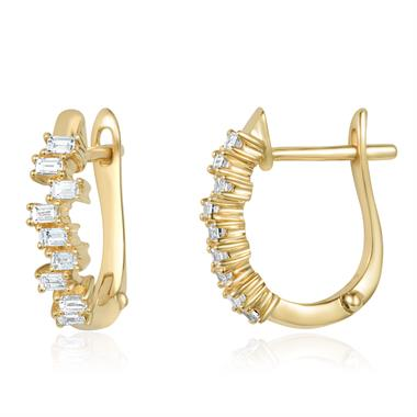 Stardust 18ct Yellow Gold Diamond Hoop Earrings thumbnail