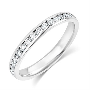 Platinum Diamond Half Eternity Ring 0.22ct thumbnail