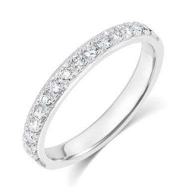 Platinum Diamond 0.33ct Pave Set Ring thumbnail