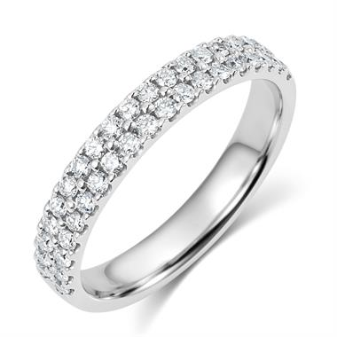 Platinum Double Row Diamond Eternity Ring 0.50ct thumbnail