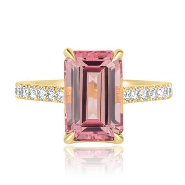 18ct Yellow Gold Rose Tourmaline Ring thumbnail