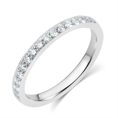 Platinum Diamond Half Eternity Ring 0.30ct thumbnail
