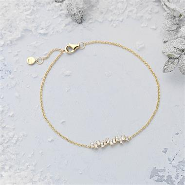 Stardust 18ct Yellow Gold Diamond Bracelet thumbnail