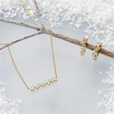 Stardust 18ct Yellow Gold Diamond Necklace thumbnail