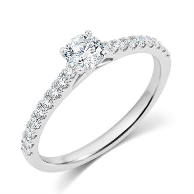 Platinum Diamond Solitaire Engagement Ring 0.65ct thumbnail