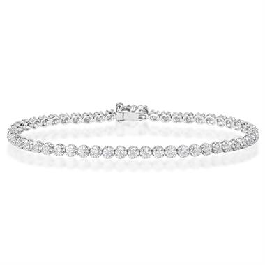 18ct White Gold Diamond Tennis Bracelet 0.93ct thumbnail