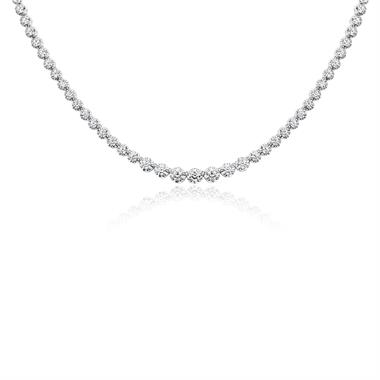 Elegant 18ct White Gold Graduating 3.14ct Diamond Necklace thumbnail