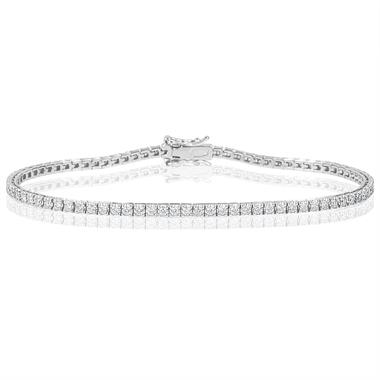 18ct White Gold Diamond Tennis Bracelet 1.00ct thumbnail