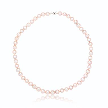 18ct White Gold Pink Freshwater Pearl Necklace thumbnail