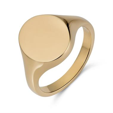 9ct Yellow Gold Large Oval Signet Ring thumbnail