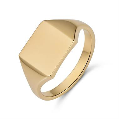 9ct Yellow Gold Square Signet Ring thumbnail