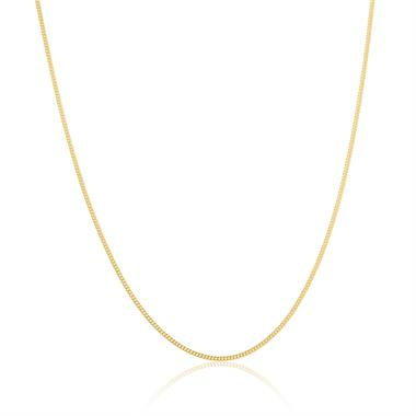 18ct Yellow Gold Medium Curb Chain 50cm thumbnail