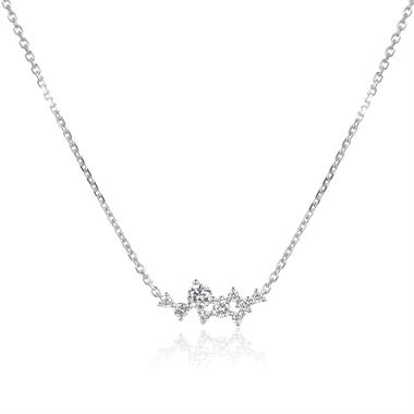 Stardust 18ct White Gold Diamond Necklace thumbnail