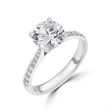 Platinum Diamond Solitaire Engagement Ring 2.24ct thumbnail