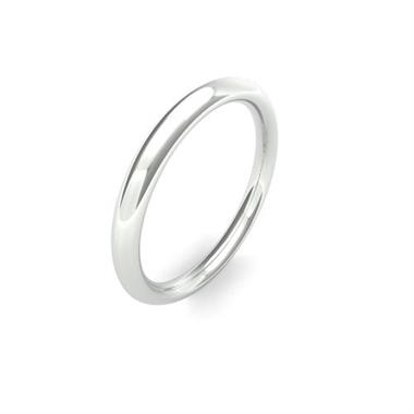 Platinum Heavy Gauge Traditional Court Wedding Ring thumbnail