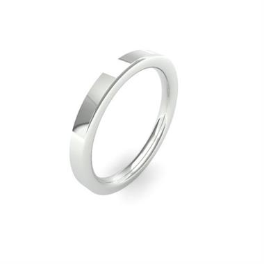 Platinum Heavy Gauge Flat Court Wedding Ring thumbnail