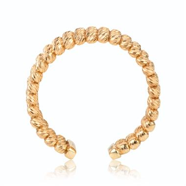18ct Yellow Gold Bead Design Dress Ring thumbnail