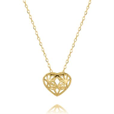 18ct Yellow Gold Heart Design Necklace thumbnail