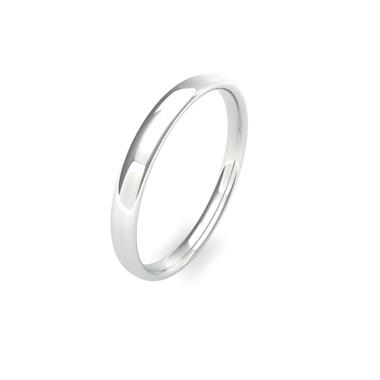 Platinum Light Gauge Slight Court Wedding Ring thumbnail