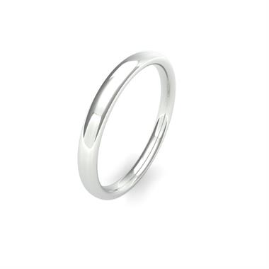 Platinum Medium Gauge Slight Court Wedding Ring thumbnail