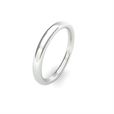 Platinum Heavy Gauge Slight Court Wedding Ring thumbnail