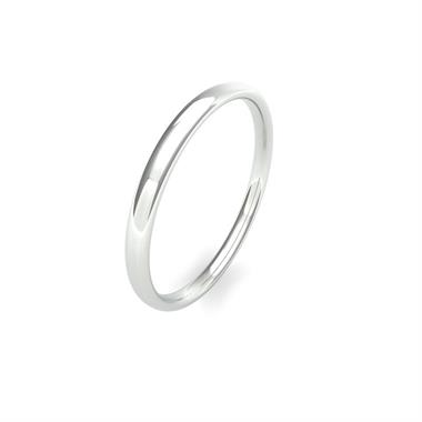 Palladium Light Gauge Slight Court Wedding Ring thumbnail