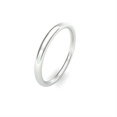 Palladium Medium Gauge Slight Court Wedding Ring thumbnail