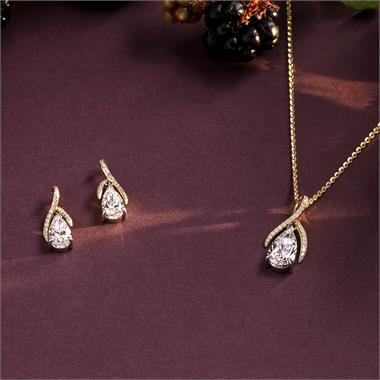 Gemini 18ct Yellow and White Gold Diamond Pendant 1.39ct thumbnail