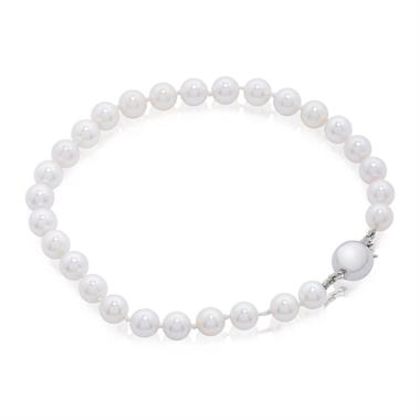 18ct White Gold Freshwater Pearl Bracelet 5.5-6.0mm | 19cm thumbnail