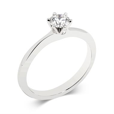 Platinum Six Claw 0.30ct Diamond Ring thumbnail