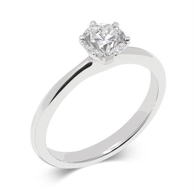 Platinum Six Claw 0.50ct Diamond Ring thumbnail
