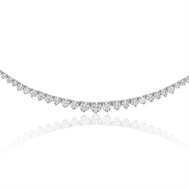 Statement18ct White Gold Graduating Diamond Necklace thumbnail