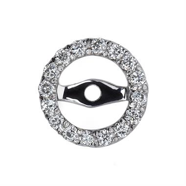 18ct White Gold Diamond Earring Sleeves thumbnail