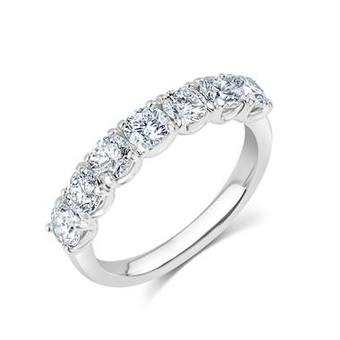 Platinum Diamond Half Eternity Ring 1.50ct thumbnail