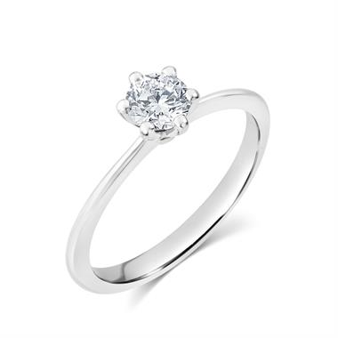Platinum Six Claw Design Diamond Solitaire Engagement Ring 0.50ct thumbnail