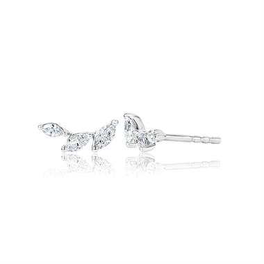 Eden 18ct White Gold Diamond Stud Earrings 0.30ct thumbnail