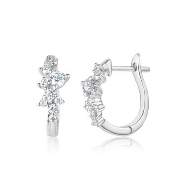 Stardust 18ct White Gold Diamond Hoop Earrings 0.43ct thumbnail