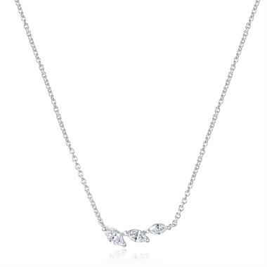 Eden 18ct White Gold Diamond Necklace 0.17ct thumbnail