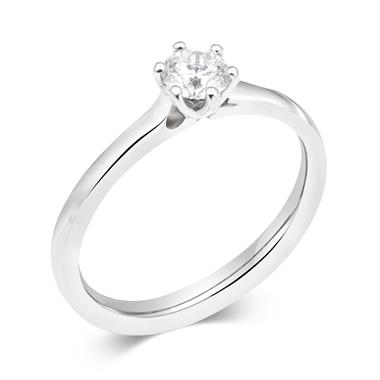 18ct White Gold Diamond Solitaire Engagement Ring 0.35ct thumbnail