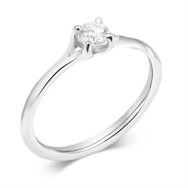 18ct White Gold Diamond Solitaire Engagement Ring 0.25ct thumbnail