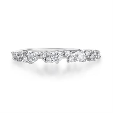 18ct White Gold Diamond Dress Ring 0.33ct thumbnail