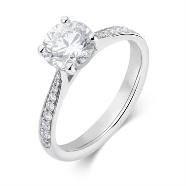 Platinum Diamond Solitaire Engagement Ring 1.66ct thumbnail