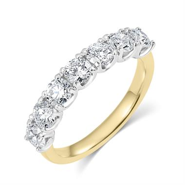 18ct Yellow Gold Diamond Half Eternity Ring 1.65ct thumbnail