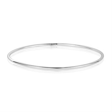 18ct White Gold Classic Round Bangle thumbnail